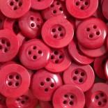 bouton rouge corozo plat incurvé 17mm 1920 culotte