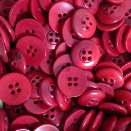 bouton rouge corozo incurvé fantaisie ancien vintage mercerie 1920 14mm petit