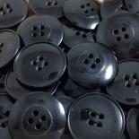 grand bouton plastique noir vintage 30mm mercerie 1920