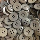 incurvé corozo bouton gris vert militaire mercerie vintage ancien 1920 14mm