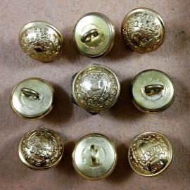 bouton laiton garde républicaine militaire mercerie antique vintage 1930 17mm