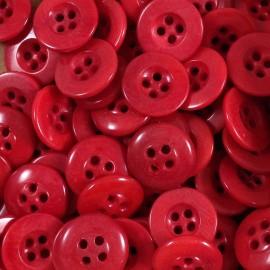 bouton corozo rouge militaire culotte ancien vintage mercerie 1920 14mm