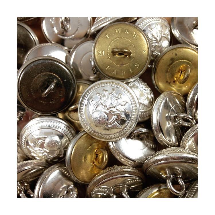 bouton douane militaire france ancien vintage mercerie 1930 21mm