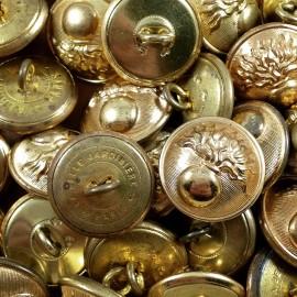 bouton gendarmerie nationale laiton metal ancien vintage mercerie militaire 1930 21mm