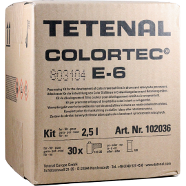 tetenal colortec e6 positif diapositive diapo reversible tetenal kit 2,5l développement