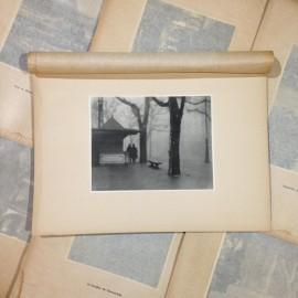 autumn fog dock photo rotogravure lyon black and white photography city paper bookstall 1930