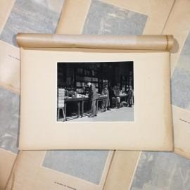last bookstall dock photo rotogravure lyon black and white photography city paper bookstall 1930