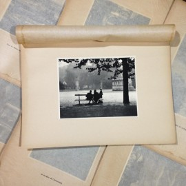 tête d'or park entry photo rotogravure lyon black and white photography city paper bookstall 1930
