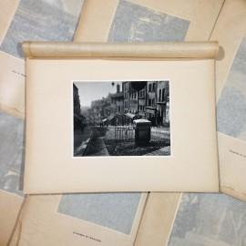 montée grande côte gravure héliogravure ancien blanc et demilly noir et blanc lyon papier 1930 bouquiniste