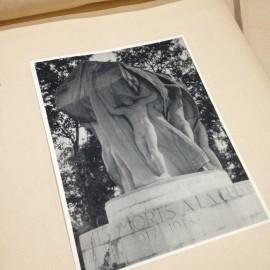 monument morts gravure héliogravure ancien blanc et demilly noir et blanc lyon papier 1930 bouquiniste