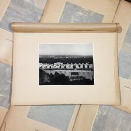 palais de la foire gravure héliogravure ancien blanc et demilly noir et blanc lyon papier 1930 bouquiniste