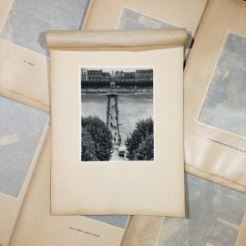 passerelle collège gravure héliogravure ancien blanc et demilly noir et blanc lyon papier 1930 bouquiniste