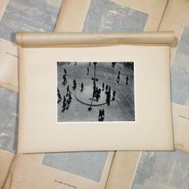 place le viste gravure héliogravure ancien blanc et demilly noir et blanc lyon papier 1930 bouquiniste
