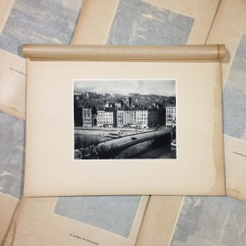 la feuillée bridge district st vincent photo rotogravure lyon black and white photography city paper bookstall 1930