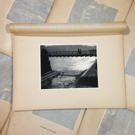 hall of justice bridge photo rotogravure lyon black and white photography city paper bookstall 1930