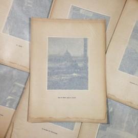 quai après marché gravure héliogravure ancien blanc et demilly noir et blanc lyon papier 1930 bouquiniste