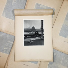 dock after market photo rotogravure lyon black and white photography city paper bookstall 1930