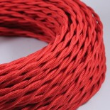 electric wire textile fabric electricity vintage decoration lamps lightning red twisted