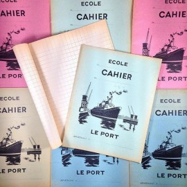 cahier ecole ancien ecolier le port papier 1960 table de multiplication