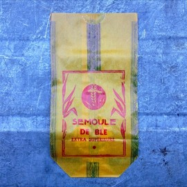 vintage wrapping corn semolina kitchen decoration 1950 1960 antique french