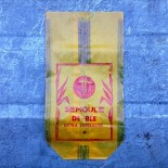 sachet ancien en papier vintage semoule de blé agriculture campagne restaurant 1950