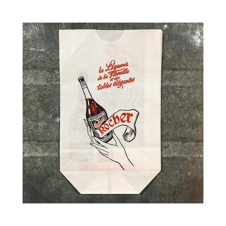 vintage cherry rocher paper bag 1960 1950 antique old wrapping