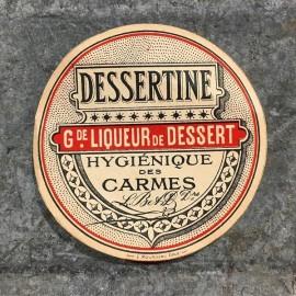 dessertine liquor label antique vintage old 1920 1930 alcohol aperitif