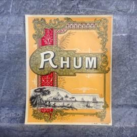 rhum gold golden label antique vintage old 1920 1930 alcohol aperitif