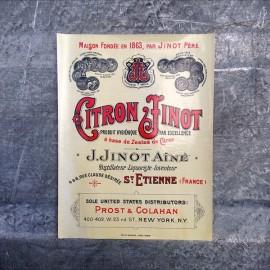 citron jinot label antique vintage old 1920 1930 alcohol aperitif