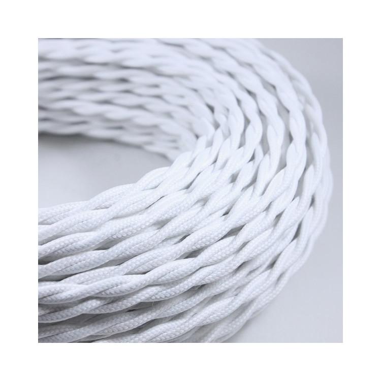 Cable Electrique Chanvre Textile Tissu Torsadé Normes CE 2*0,75mm Deco Wire