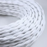 electric wire textile fabric electricity vintage decoration lamps lightning white twisted