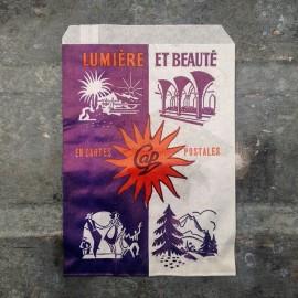 sachet ancien carte postale emballage papier vintage 1960 1966 cap