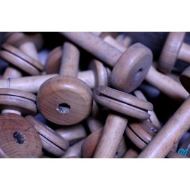 longue bobine en bois atelier 16cm hetre ancienne vintage 1930