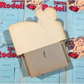 rodoll soap display antique old vintage cardboard art deco 1930 1940 grocery