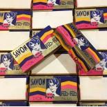 flo-flo soap box cardboard with art deco illustration savonnerie du rhone lyon paris 1930 1940