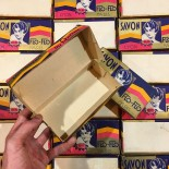 flo-flo soap box cardboard with art deco illustration savonnerie du rhone lyon paris 1930 1940