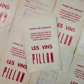 sachet vin pillow paper ancien vintage épicerie 1960