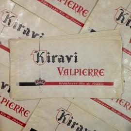 sachet papier kiravi valpierre vin ancien vintage épicerie 1960