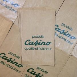 sachet papier casino produits ancien vintage épicerie 1960