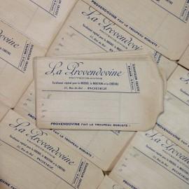 sachet papier ancien la provendine pharmacie vintage 1930
