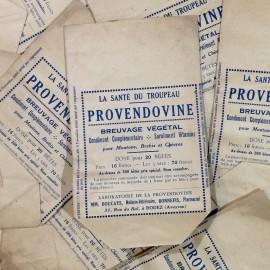 sachet provendine papier soufflet ancien vintage pharmacie 1930