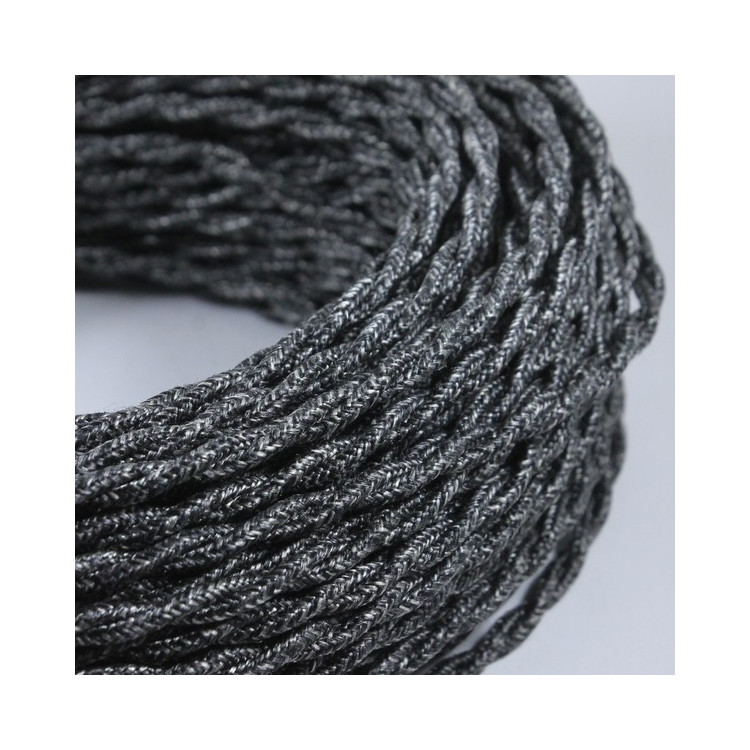electric wire textile fabric electricity vintage decoration lamps lightning anthracite twisted