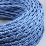 electric wire textile fabric electricity vintage decoration lamps lightning light blue jean twisted
