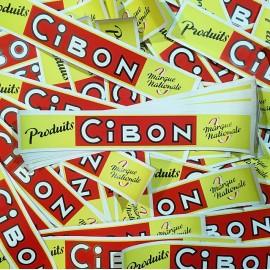 affiche affichette produits cibon épicerie succursale ancienne ancien 1960 rouge jaune
