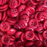 bouton ancien corozo vintage rouge incurvé militaire culotte 1920 mercerie 12mm