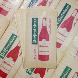 sachet papier vintage ancien préfontaines épicerie 1960