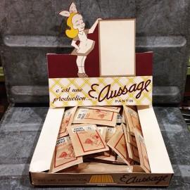 boite vanillé sucre ancien vintage présentoir e.aussage épicerie 1950