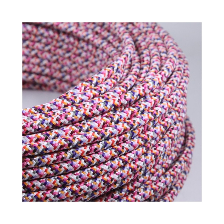 electric colored wire textile fabric electricity vintage decoration lamps lightning pixel pink round color