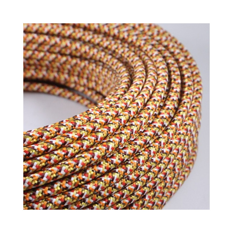 electric colored wire textile fabric electricity vintage decoration lamps lightning pixel orange round color
