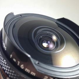 Nikon nikkor 16mm fisheye auto 3.5 objectif non ai ancien vintage argentique 135 35mm 24 36